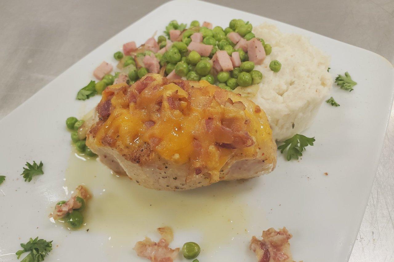 Wolfe's International - Bacon Cheddar Stuffed Pork Chop