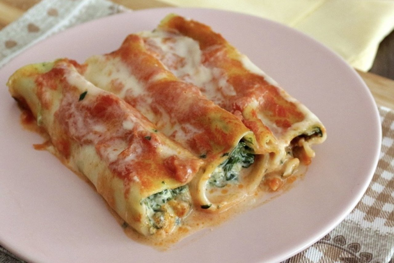My Chef Kathy - Manicotti: Handmade Cannelloni with Spinach & Ricotta Cheese