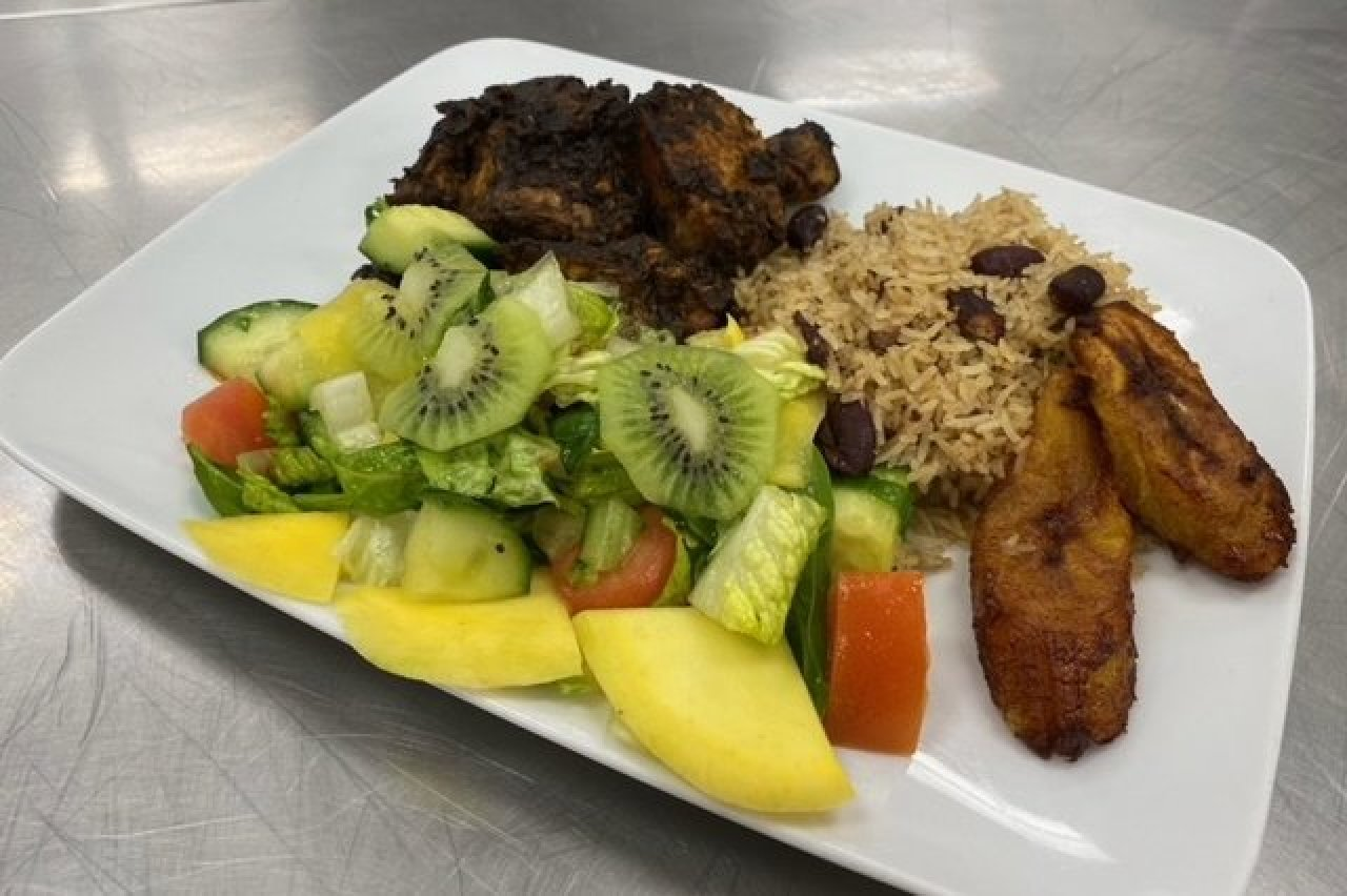 Twist of Culture Cuisines - Jerk Chicken Plate