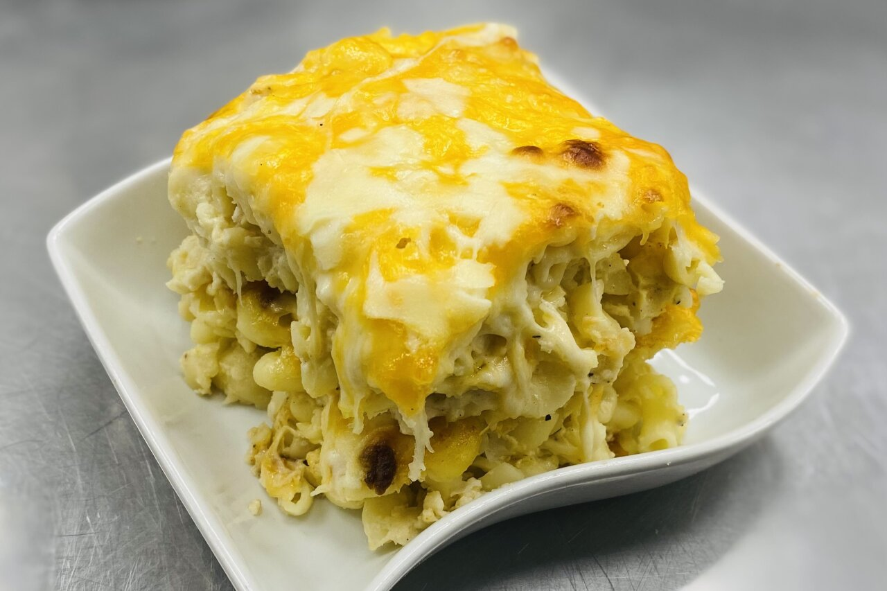 Twist of Culture - Double Stack Creamy Mac & Cheese Bake
