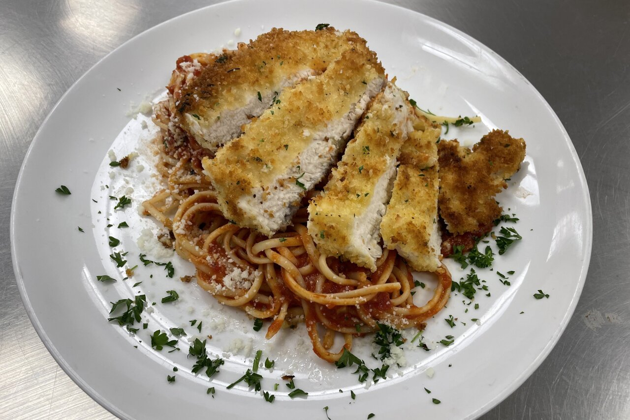 My Chef Kathy - Linguine Romano with Chicken Cutlet