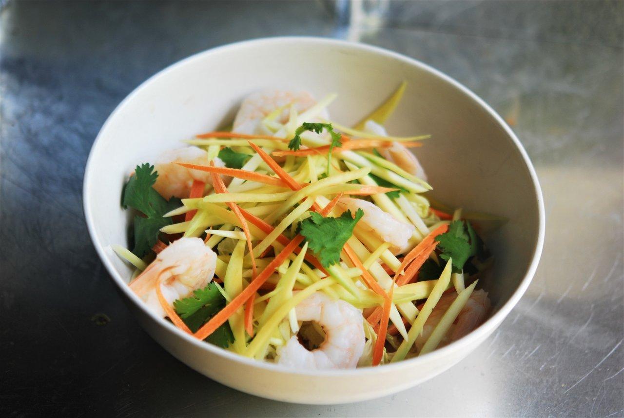 Green Mango & Papaya Salad with Shrimp