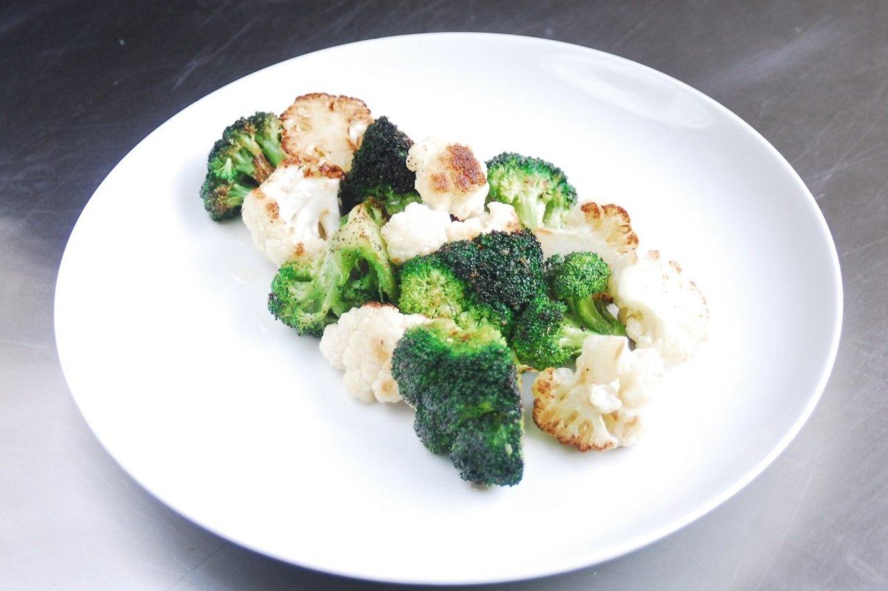 Garlic Roasted Broccoli & Cauliflower