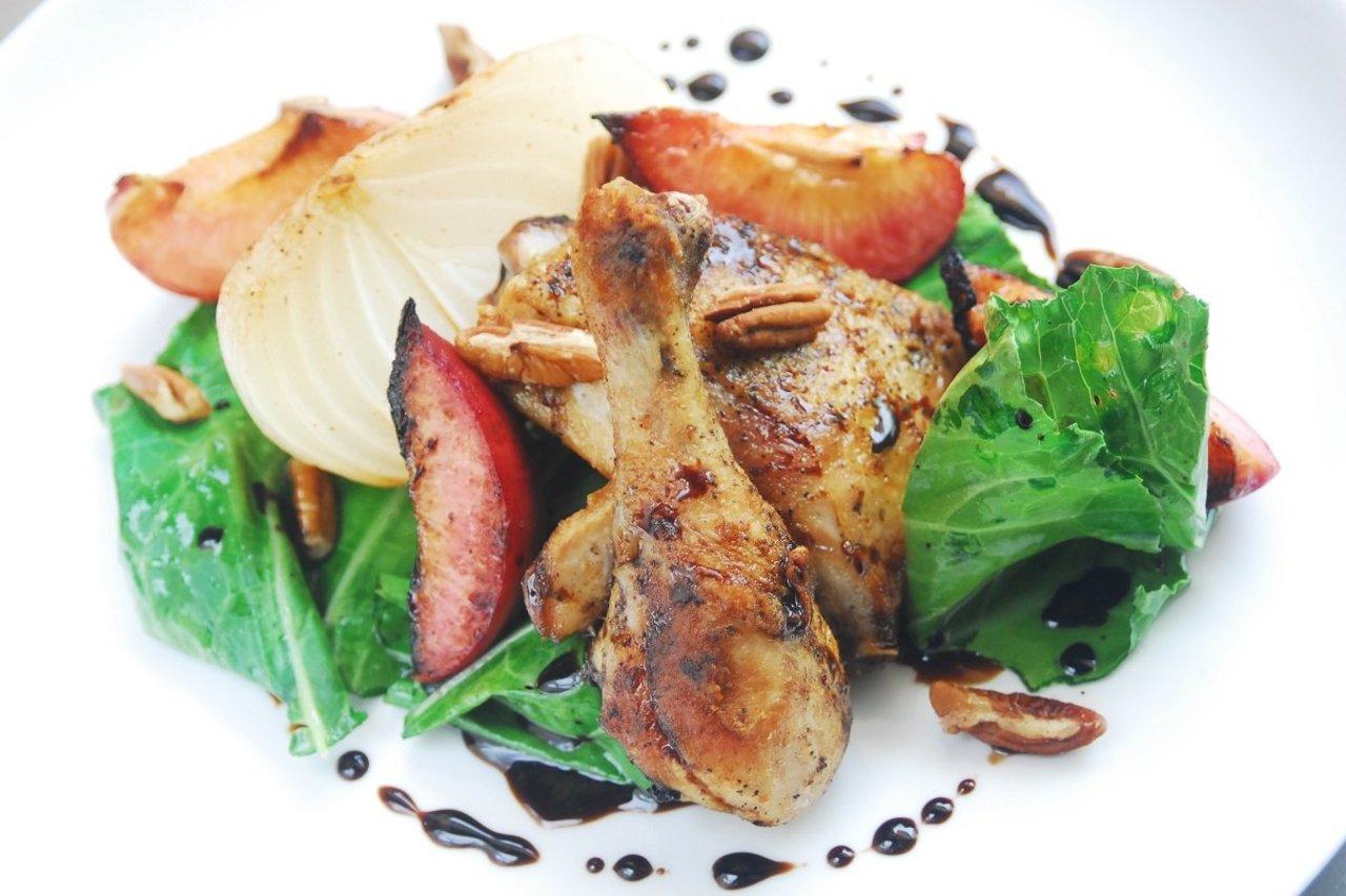 Braised Balsamic Chicken Thighs