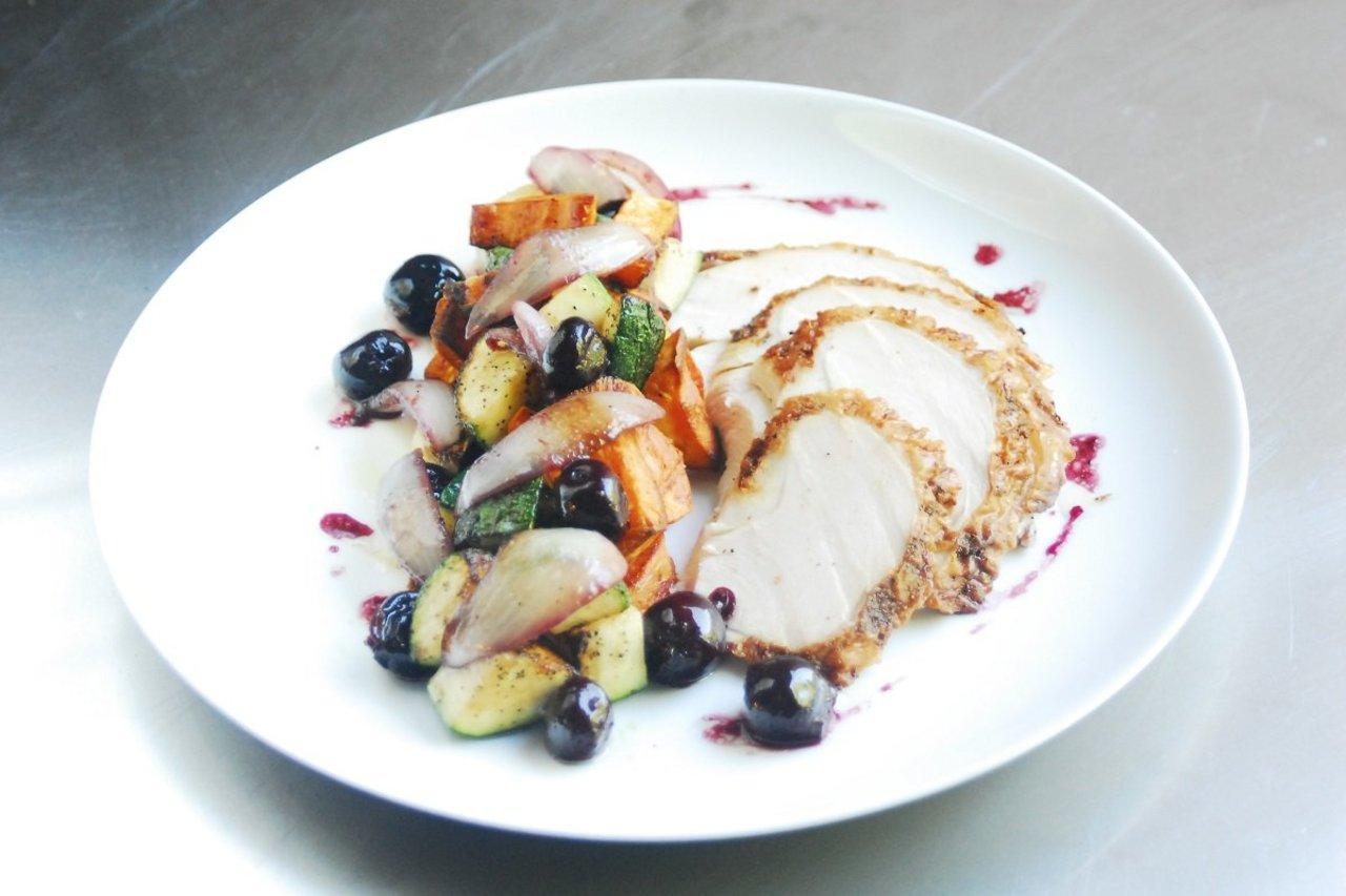 Roasted Turkey & Cherry Gastrique