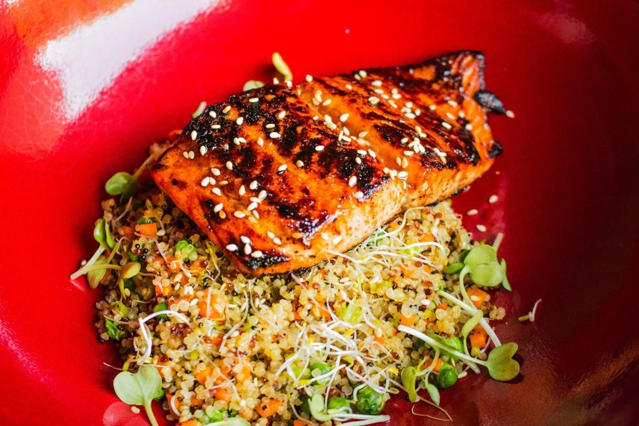 Stir Fried Quinoa & Salmon