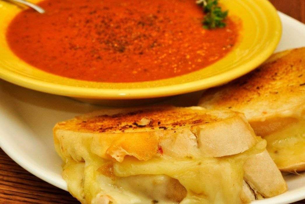 Tomato Bisque & Grilled Cheese Sandwich