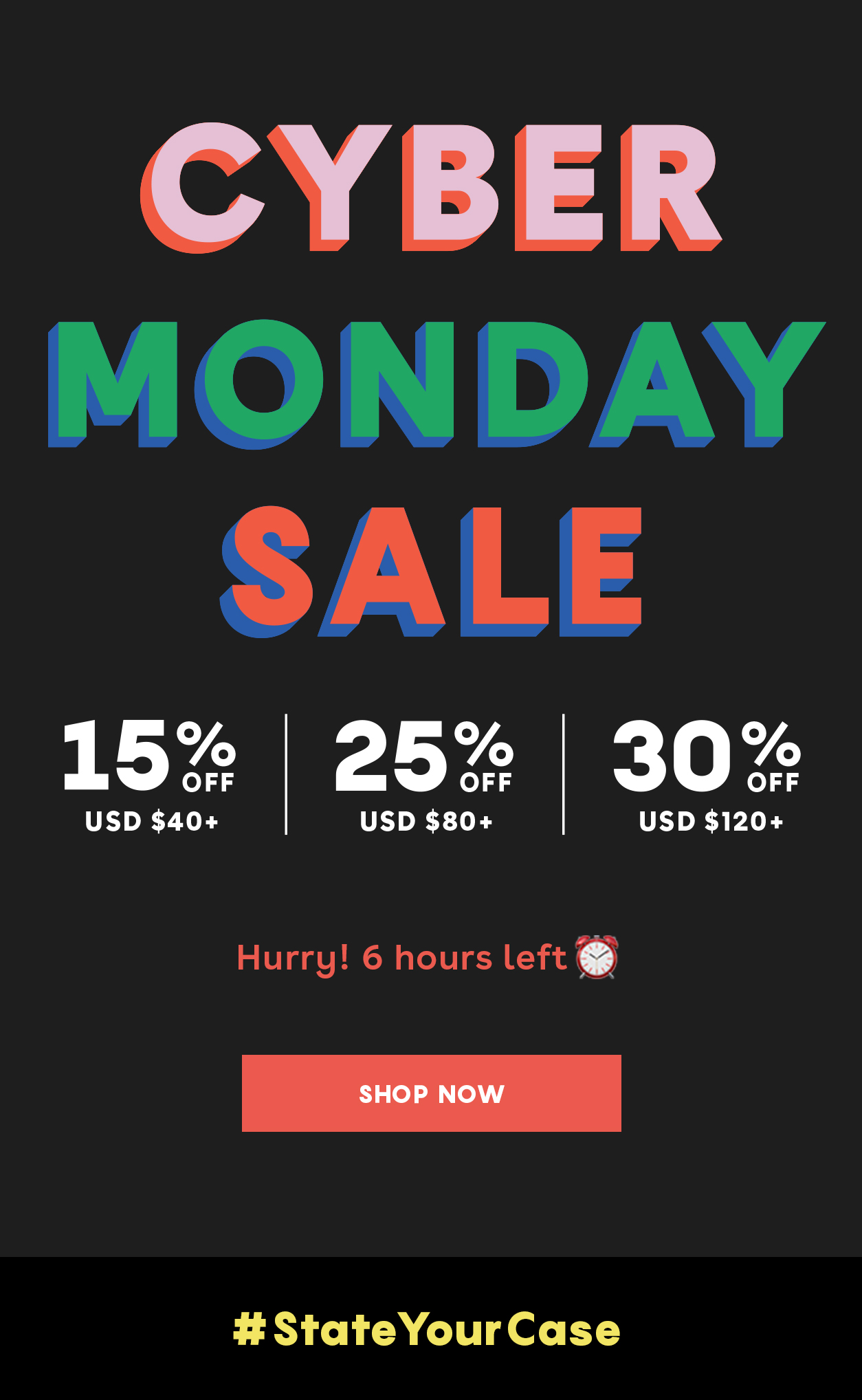 CYBER MONDAY   SALE CODE: FILLMYBAG