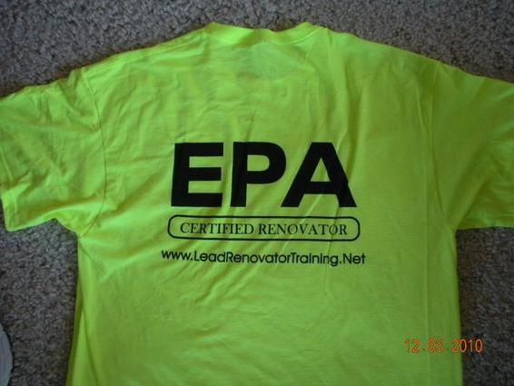 Epa renovator tee shirts