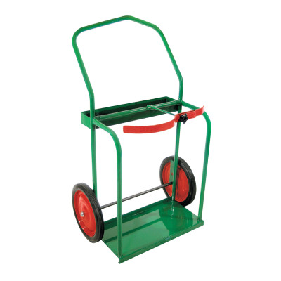 "High-Rail Frame Dual-Cylinder Cart, For 9.5""-13.5"" dia., 14"" Solid Rubber Wheels"