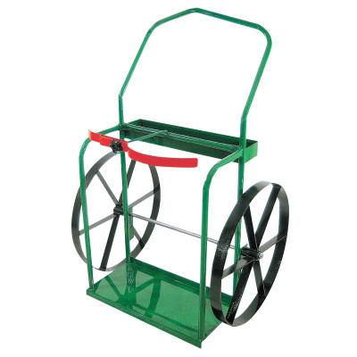 "High-Rail Frame Dual-Cylinder Carts, For 9.5""-13.5"" Cylinders, 24"" Steel Wheels"