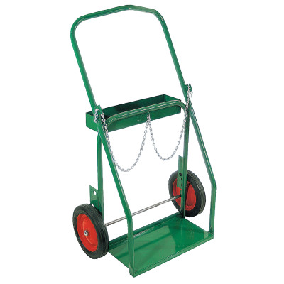 "Low-Rail Frame Dual-Cylinder Cart, For 8""-8.5"" dia., 10"" Solid Rubber/Steel Rim"