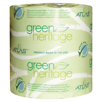 Green Heritage Bathroom Tissue, 2 Ply, 500 Sheet Roll