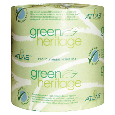 Green Heritage Toilet Tissue, 4 1/2 x 3 1/10 Sheets, 2Ply, 500/Roll