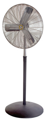 Commercial Oscillating Air Circulator, Pedestal, 30 in, 1/4 hp, 3-Speed