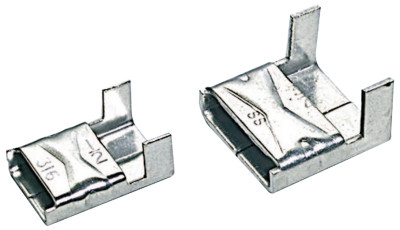 316 Stainless Steel Clips, 3/8 in, Stainless Steel 316, 100 per package
