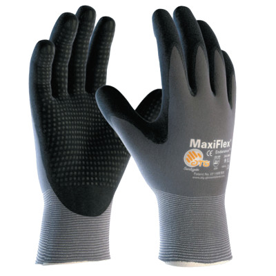 MaxiFlex Endurance, 15 Gauge, Coated Palm and Fingers, Large, Gray/Black