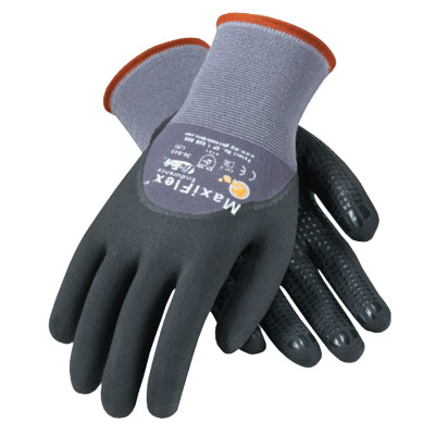 MaxiFlex Endurance, 15 Gauge, Coated Palm and Fingers, X-Large, Gray/Black