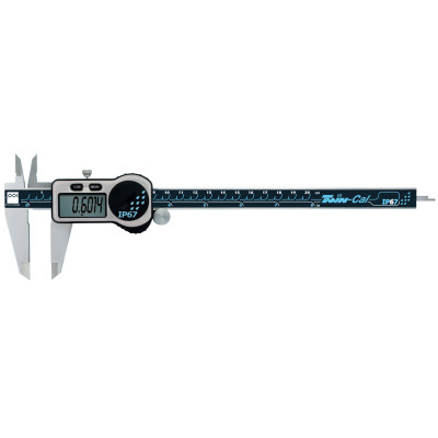 TWIN-CAL IP67 Digital Calipers, 0.001 in-8 in, Square Depth Rod