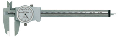 DIAL-CAL Inch Calipers, 6 in, Stainless Steel, White Display