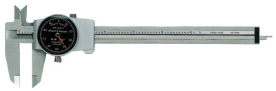 DIAL-CAL Inch Calipers, 6 in, Stainless Steel, Black Display