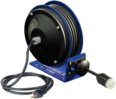 PC10 Series Power Cord Reels, 12/3 AWG, 20 A, 30 ft, Single Receptacle