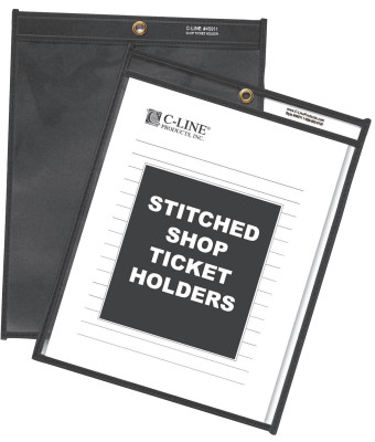 SHOP TICKET HOLDERS  CLEAR- 8 X 11