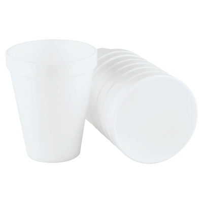 Foam Cups, 10 oz, White