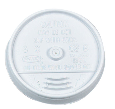 Sip-Thru Lids, Use With 10J10, White, 1,000 per case