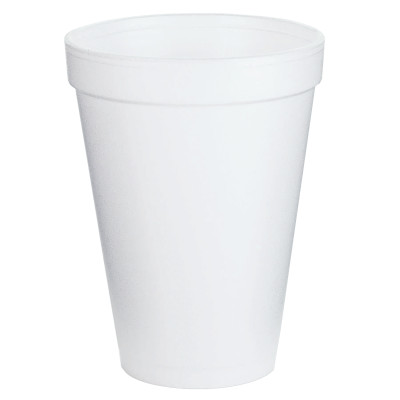 Foam Cups, 12 oz, White