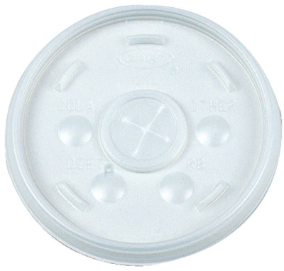 Straw-Slotted Lids, Use With 12J12, Translucent, 1,000 per case