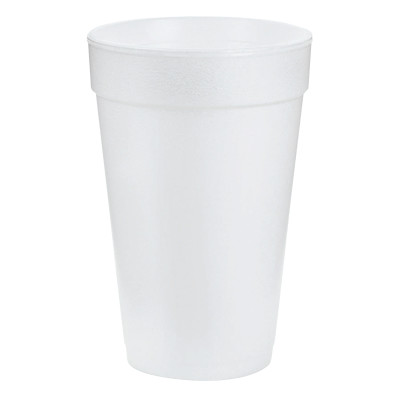 Foam Cups, 16 oz, White