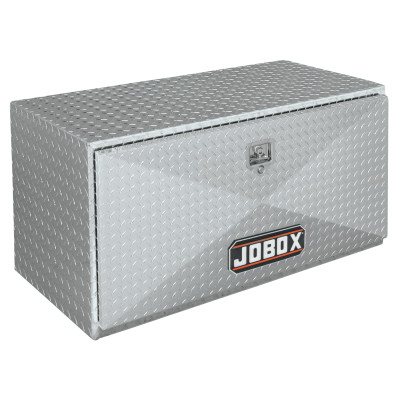 Underbed Truck Boxes, 24 in W x 18 in D x 18 in H, Aluminum, Silver