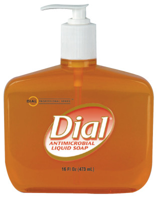 Liquid Dial Gold Antibacterial Soaps, Pump Bottle, 16 oz