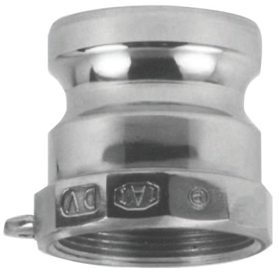 Andrews/Boss-Lock Type A Cam and Groove Adapters, 1 in (NPT), Aluminum