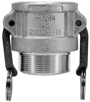 Andrews Type B Cam and Groove Couplers, 1 in (NPT), Aluminum