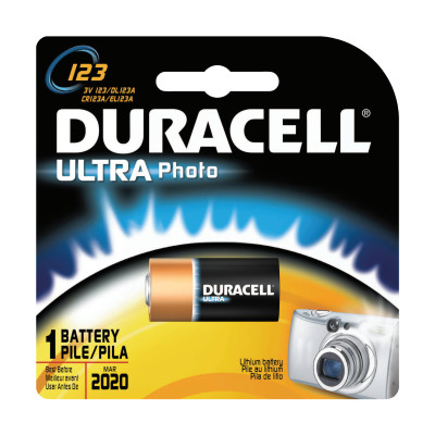 Duracell Procell Batteries, Lithium Cell, 3 V, 123