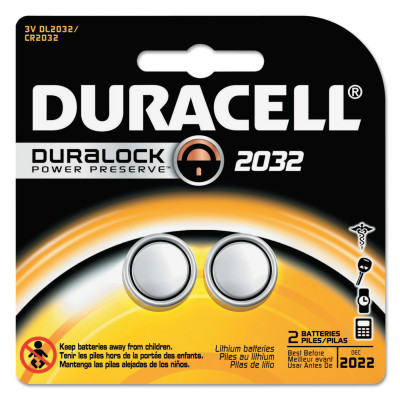 Duracell Batteries, Lithium Cell, 3 V, 2032