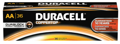 CopperTop Batteries, DuraLock Power Preserve Alkaline, 1.5 V, AA