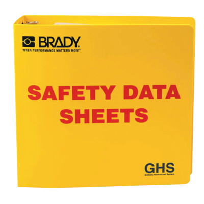 GHS Safety Data Sheet Binders, English, 3 in, Yellow