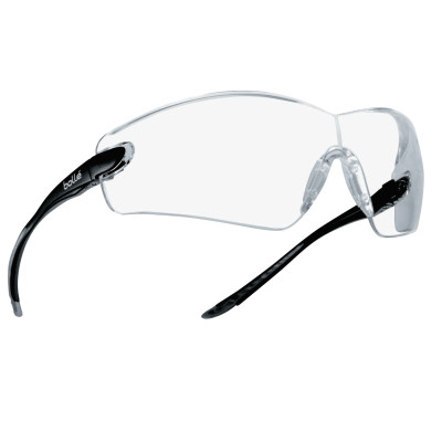 Cobra Series Safety Glasses, Anti-Scratch Anti-Fog Clear Lenses, Black/Gray