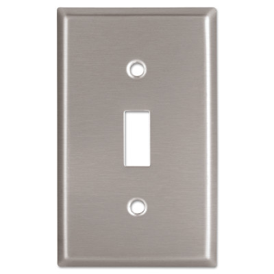 WALLPLATE 1G TOGGLE RECEPTACLE MID SS