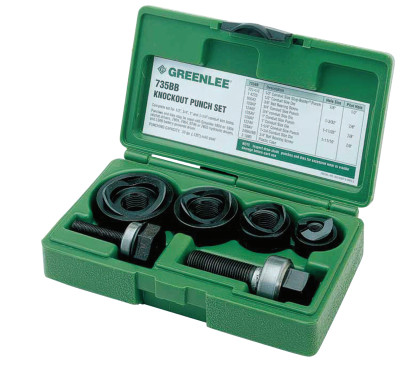 Manual Round Standard Knockout Punch Kits, 1/2 - 1 1/4 in