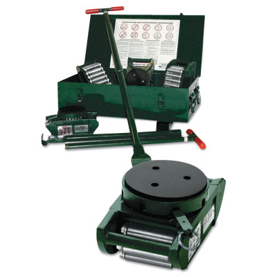 Industrial Roller Kit w/Swivel-Locking Padded Rollers, 15-Ton Kit