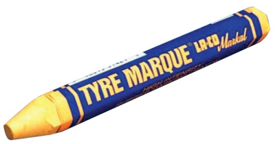 Tyre Marque Rubber Marking Crayons, 1/2 in X 4 5/8 in, White