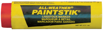 All-Weather Paintstik Livestock Markers, 1 in X 4 in, Orange