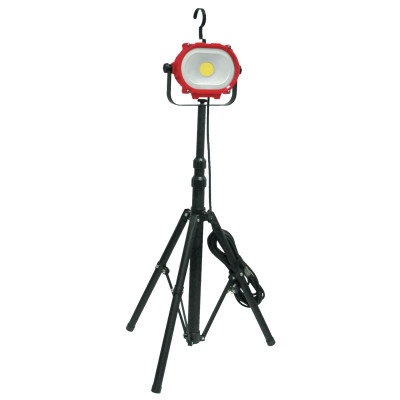 COB LED Work Light with Telescopic Stand, 35 W, 4200 Lumens, Red