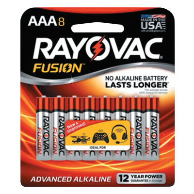 FUSION Advanced Alkaline Batteries, AAA, 1.5 V
