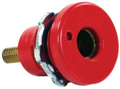 F Series Connector, Female Connection, 2/0-3/0 Cap., Red