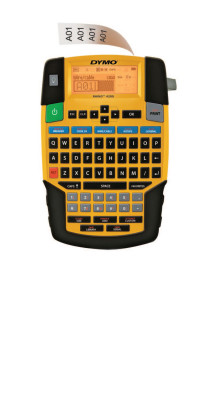 "RHINO 4200 Label Printer, 1/4""-3/4"", Yellow"